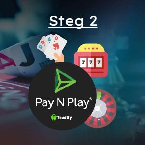 Skapa konto med hjälp av Pay n Play